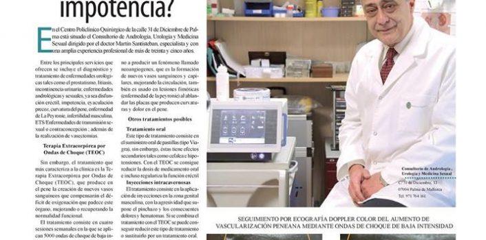 El tratamiento de la impotencia por Ondas de Choque - Reportaje en Ultima Hora Mallorca